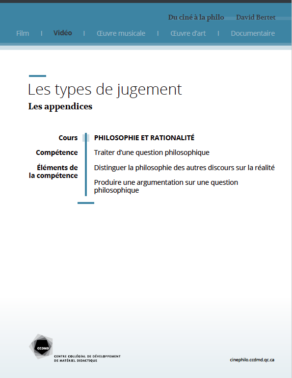Document : Les appendices
